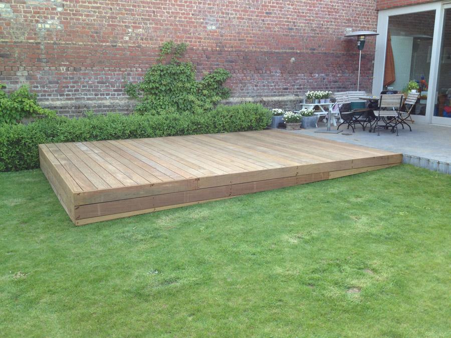 Pro works houten terras for Terras decoratie